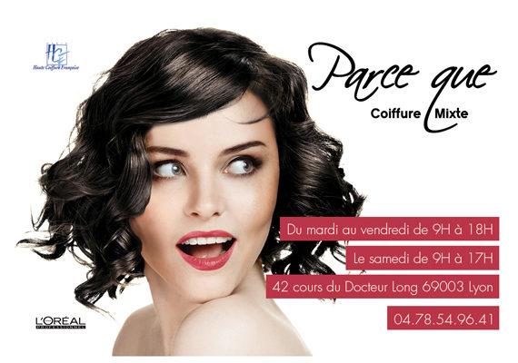 Carte de visite coiffure femme