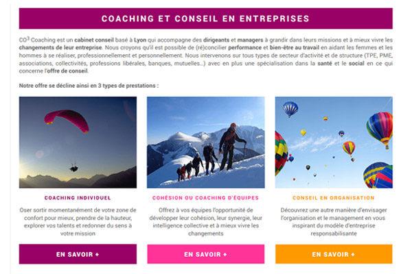 Site web coaching et conseil en entreprises