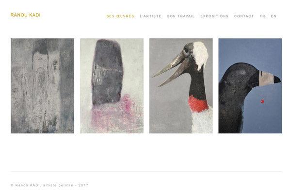 Portfolio en ligne peintre
