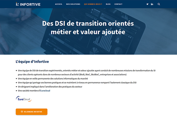 Site web DSI de transition